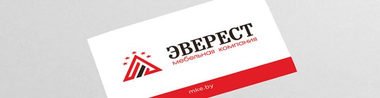 Кейс по созданию дизайна визитки для «Эверест»
